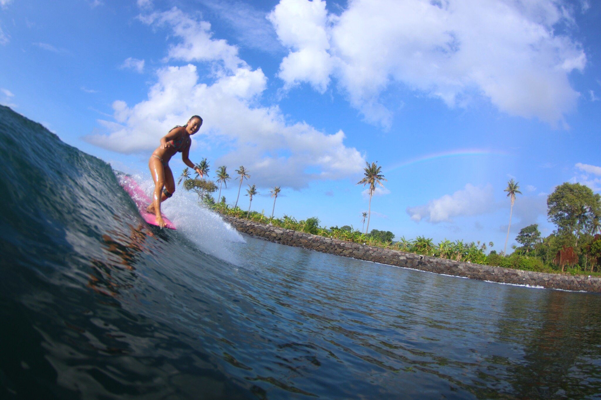 Hawaiian style surfing ☆Miku Uemura@Bali