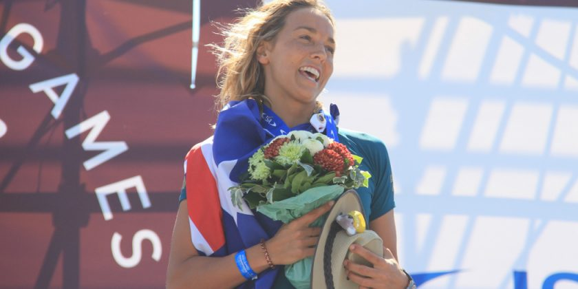 Congratulations !! Sally Fitzgibbons@2018 ISA World Surfing Games in Tahara,Japan